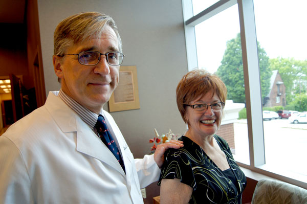 """Vicki Heidle is thankful to Dr. Paul Dudrick, surgical oncologist, for the """"seamless, coordinated"""" care she's received from Thompson Cancer Survival Center, Thompson Oncology Group and Fort Sanders Regional, since being diagnosed with stage III melanoma in 2014."""