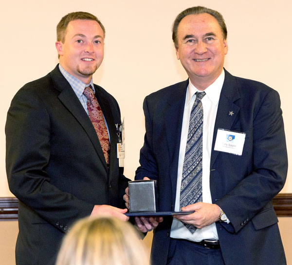 Miles Denton, director of food and nutrition services at LeConte, was recognized by Covenant Health President and CEO Tony Spezia for being selected as a finalist.