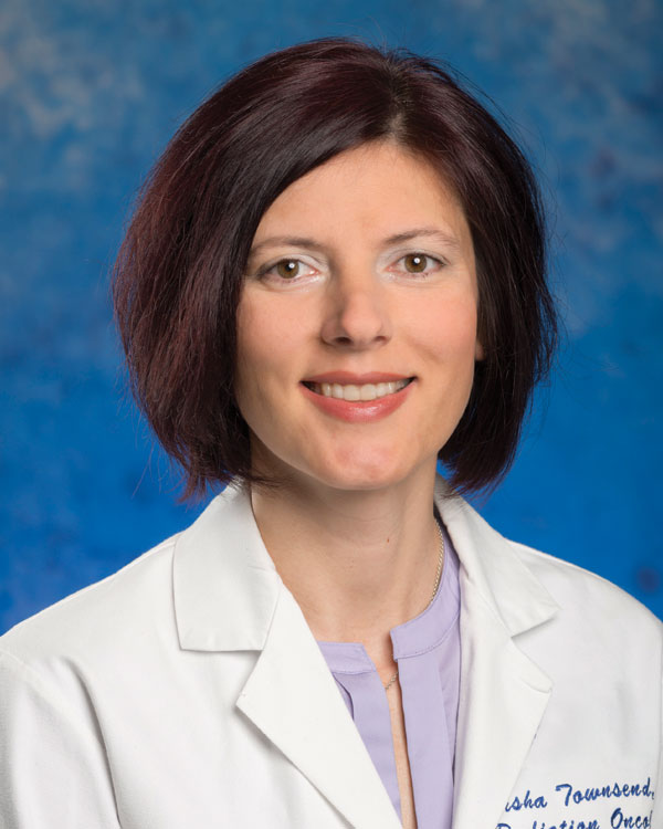 """""""I went in and talked with her and was impressed ... she takes her job very seriously,"""" Jimmie Dodd says of board-certified radiation oncologist Natasha Townsend, MD."""