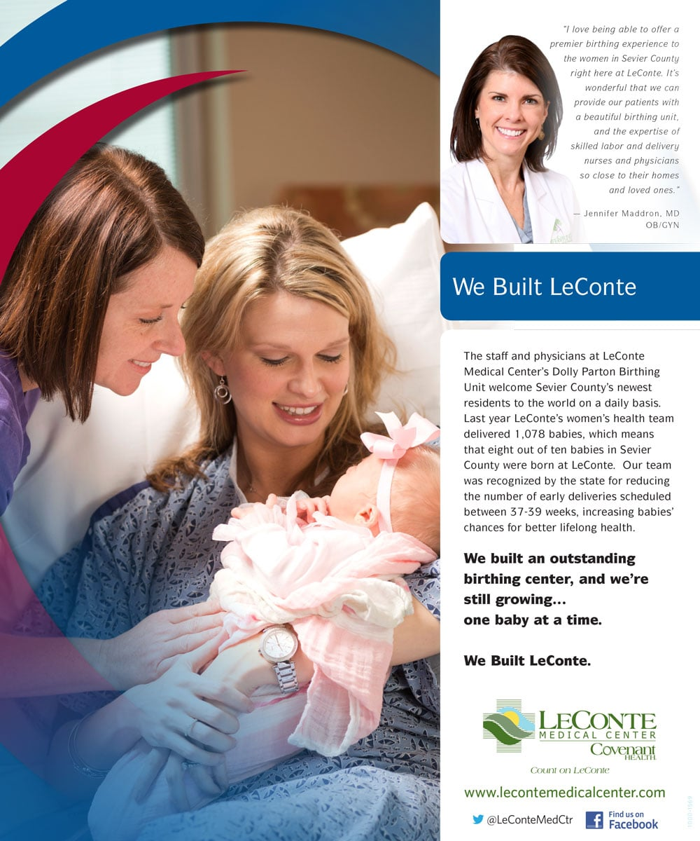 We Built LeConte Dolly Parton Birthing Center ad