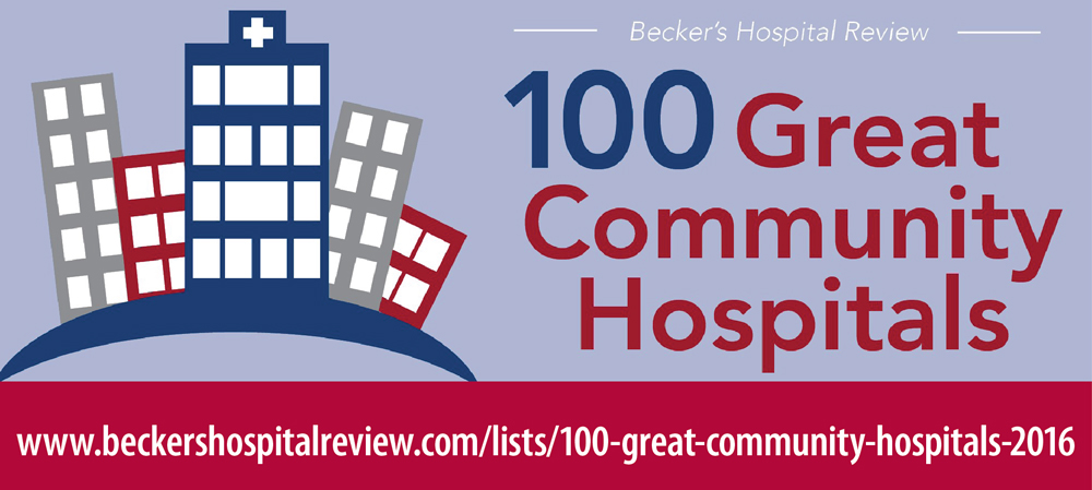 """LeConte Medical Center has been included on a 2016 national list of """"100 Great Community Hospitals"""" compiled by Becker's Hospital Review."""