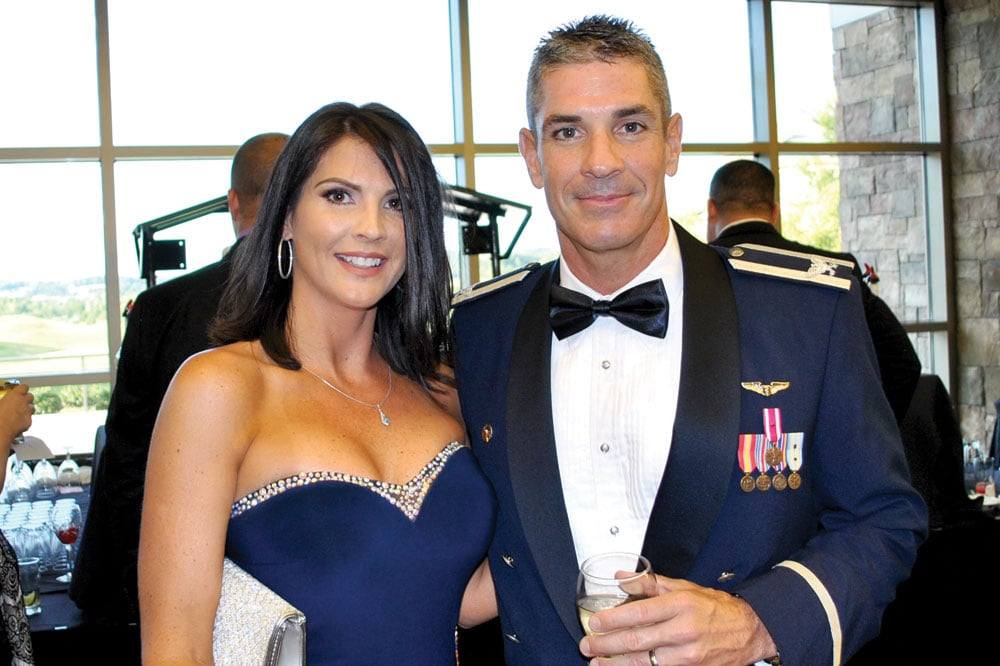 Dr. Jeffrey King, who recently returned from a short deployment to the Middle East, and his wife, Jennifer, enjoyed the evening's festivities.