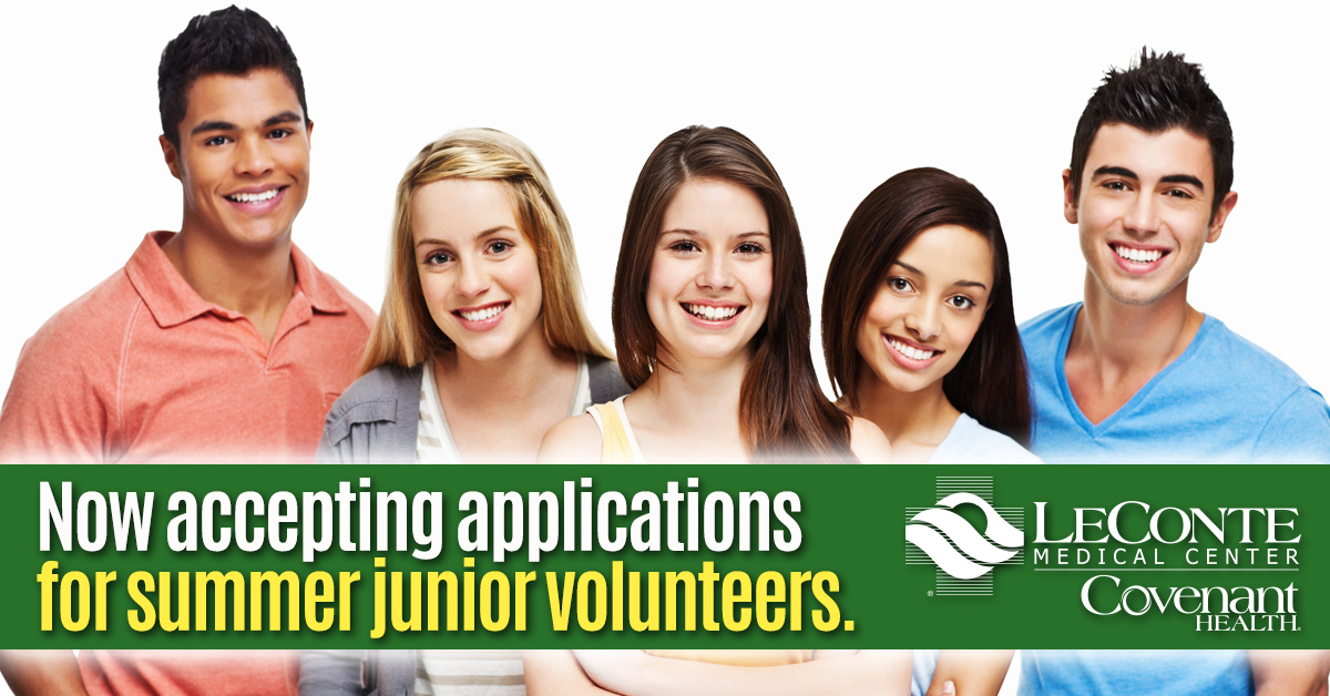 Junior vol applications now available