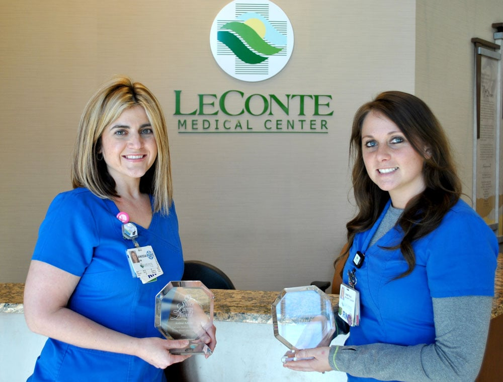 Congratulations to Anissa Adcox, RN, Surgery, and Donetta Sinard, RN, Critical Care, for being chosen as LeConte's Silver Lamp Award winners for this year.