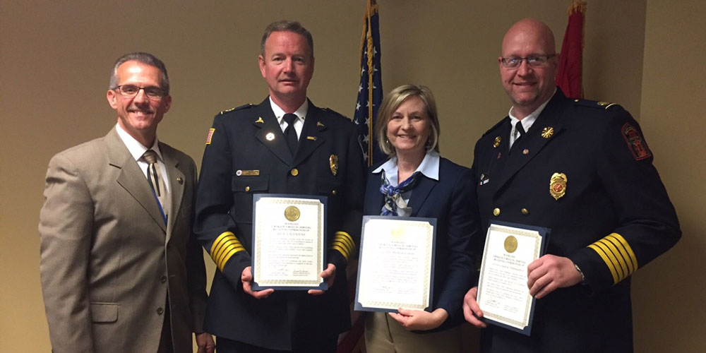 """On March 29, LeConte Medical Center was recognized for representing the """"highest levels of distinction, dedication and professionalism"""" in response to the 2016 Gatlinburg and Sevier County wildfires."""