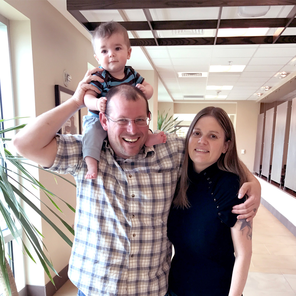 Vince, Angela and baby Levi Cardwell
