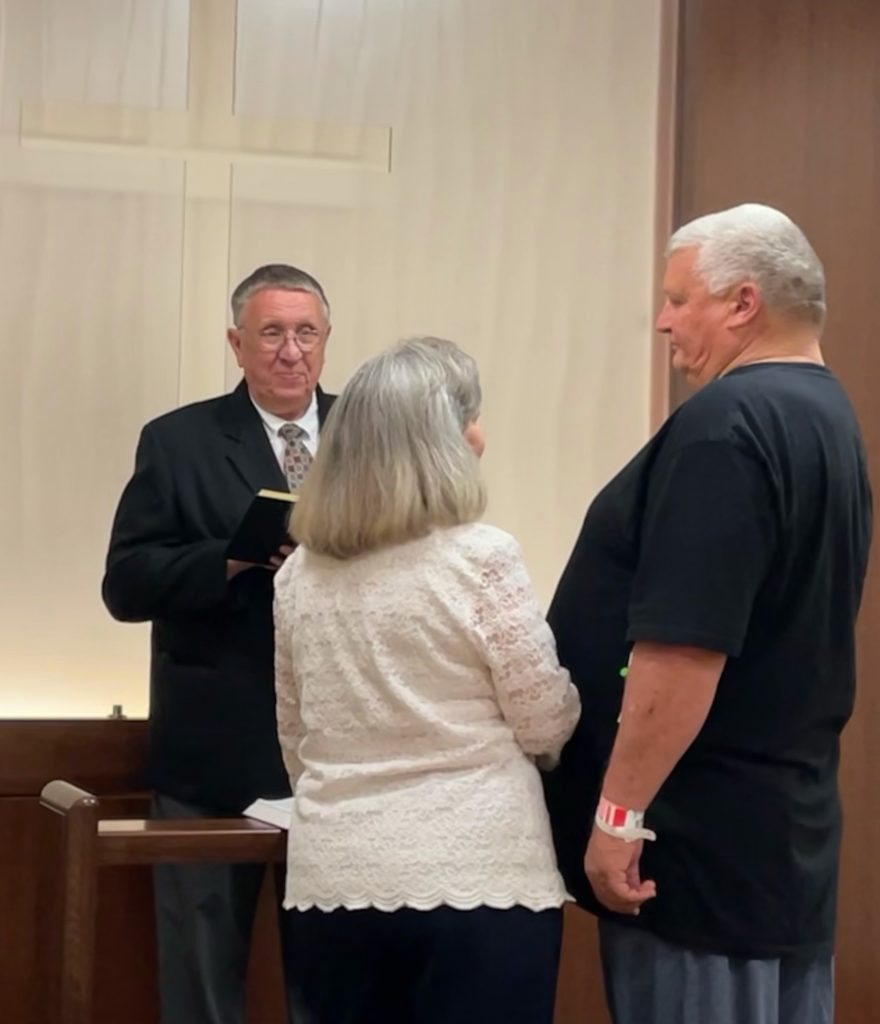 Larry and Rose wed at LMC Chapel